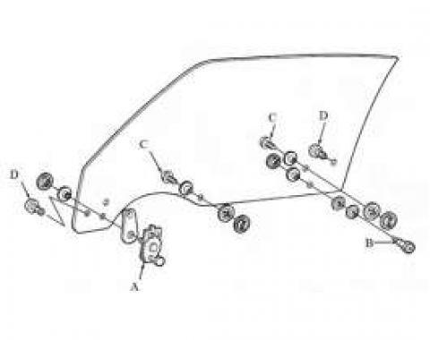 Camaro Door Glass Mounting Kit, LH & RH Side, 1970-1981