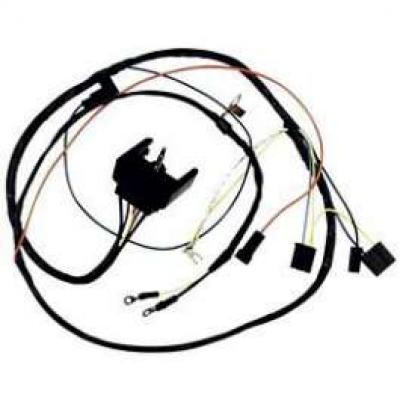 Camaro Engine Wiring Harness, 6 Cylinder, For Cars With Warning Lights, 1968-1969
