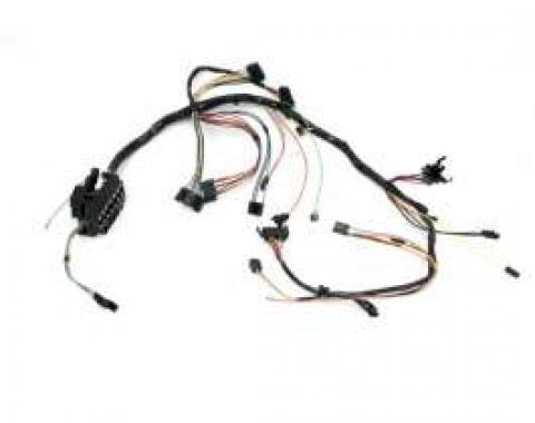 Camaro Underdash Wiring Harness, For Cars With Column Shift, Automatic Transmission & Warning Lights, 1972