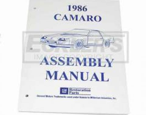 Camaro Factory Assembly Manual, 1986