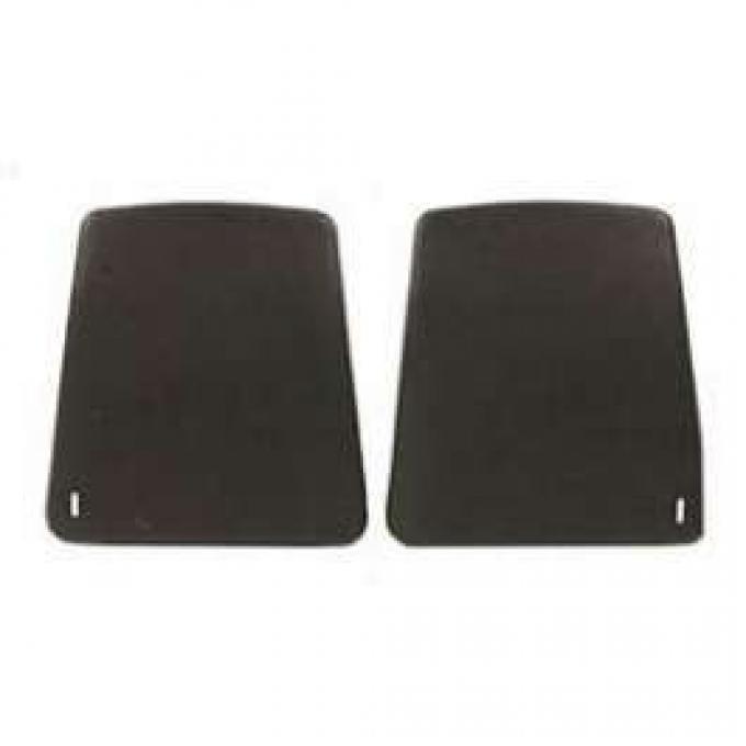 Camaro Bucket Seat Back Panels, Black, 1967-1970
