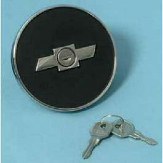 Camaro Gas Cap, Locking, Bowtie, 1967-1968