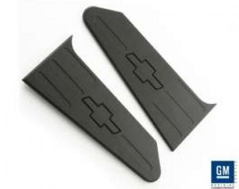Camaro Black Billet Trunk Plate Covers, Bowtie Logo, 2010-2013