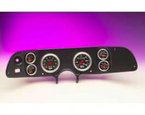Camaro Dash Panel, With 6 AutoMeter Sport Comp II Gauges, Black, 1970-1978