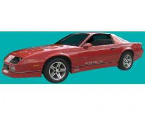 Camaro Base Stripe Kit,  Red/Black, 1985-1987 IROC-Z Or 1988-1990