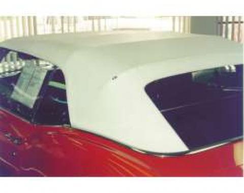Camaro Convertible Top, With Plastic Zippered Window, Black, 1967-1969