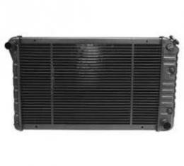 Camaro Radiator, Copper 3 Core, For Cars With Automatic Tranmission & Air Conditioning, U.S. Radiator, 1980-1981
