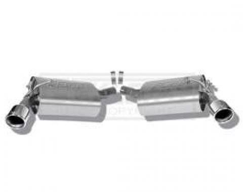 Camaro Rear Section Exhaust System, Stainless Steel, V6, 2010-2013