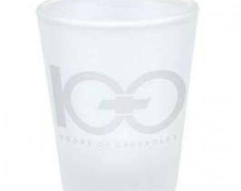 Chevrolet 100th Centennial Frosted Etched Mini Glass