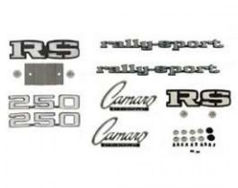 Camaro Emblem Kit, For Rally Sport (RS) With 250ci, 1969