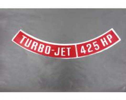 Camaro Air Cleaner Decal, Turbo-Jet 425 HP, 1969