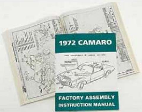 Camaro Assembly Manual, 1972
