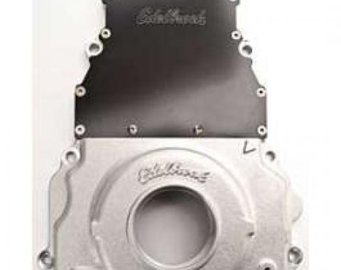 Camaro Timing Chain Cover, Two-Piece, Aluminum, Edelbrock, 1998-2002