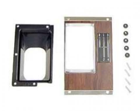 Camaro Console Shifter Plate Kit, Manual Transmission, 4-Speed, 1969