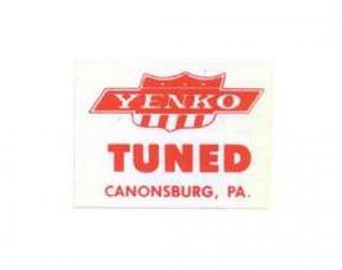Camaro Window Decal, Yenko Tuned, 1967-1969