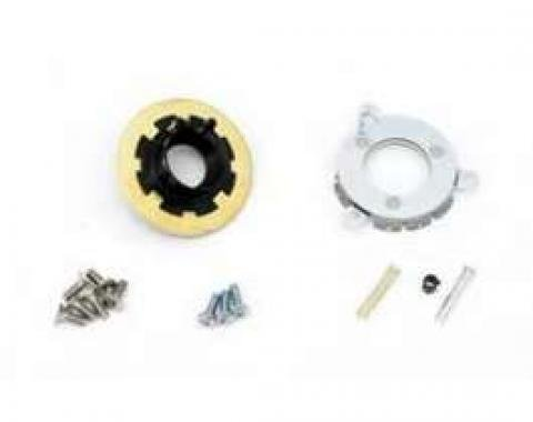 Camaro Horn Cap Contact & Mounting Parts Kit, Wood Steering Wheel, 1967-1968