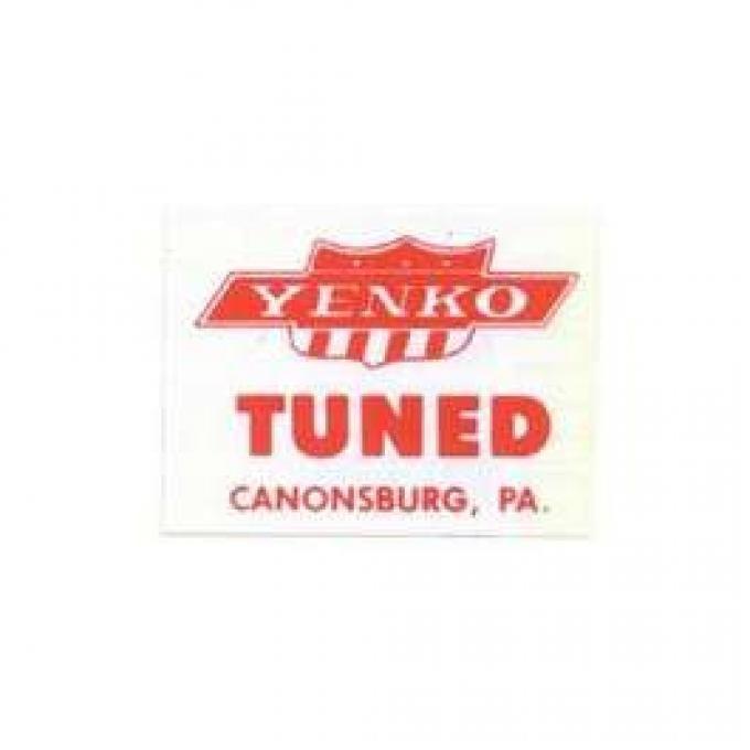 Camaro Window Decal, Yenko Tuned, 1967-1969