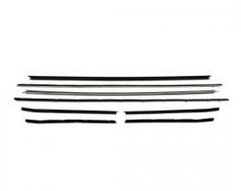 Camaro Coupe Window Felt Kit, Round Inner & Outer Stainless Steel Beads, Standard & RS Or With Optional Exterior Trim, 1968