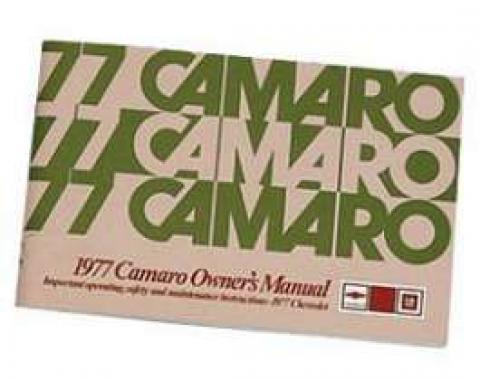 Camaro Owner's Manual, 1977