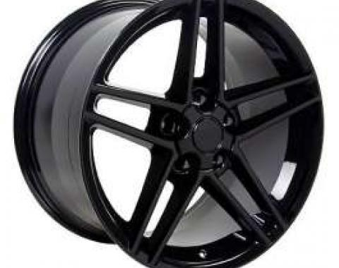 Camaro 18 X 9.5 C6 Z06 Reproduction Wheel, Black, 1993-2002