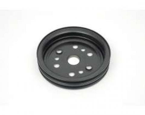 Camaro Crankshaft Pulley, 327-350ci, Double Groove, For Cars With A.I.R. Pump & Without Air Conditioning, 1967-1968