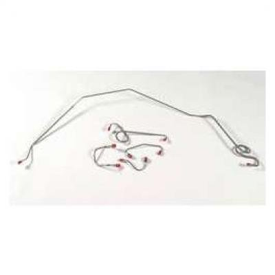 Camaro Brake Line Set, Front, Stainless Steel, For Cars With Power Disc Brakes, 1969