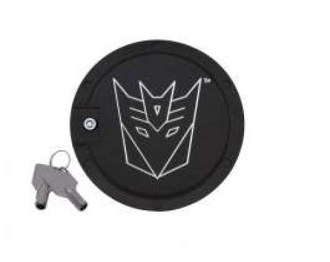 Camaro Transformers Decepticon Logo, Black Billet, Locking Gas Door, 2010-2013