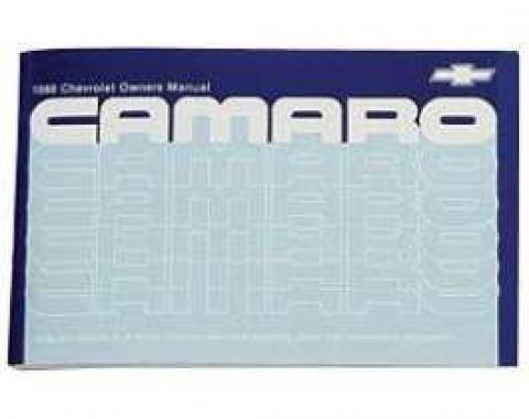 Camaro Owner's Manual, 1988