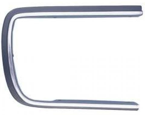 Camaro Headlight Door Molding, Right, Chrome & Black, Rally Sport (RS), 1967-1968