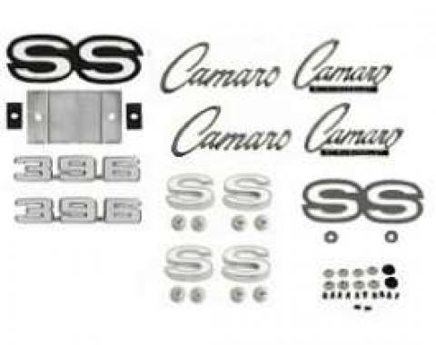 Camaro Emblem Kit, For Rally Sport (RS)/Super Sport (SS) With 396ci, 1969