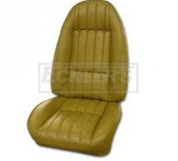 Camaro Front Buckets Seat Covers Black, Deluxe Style, Show Correct, 1973