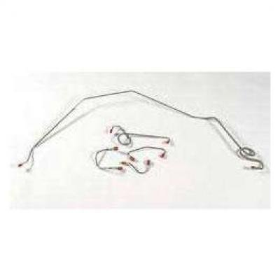 Camaro Brake Line Set, Front, Stainless Steel, For Cars With Power Drum Brakes, 1967-1968