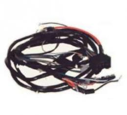 Camaro Front Light Wiring Harness, V8, With Warning Lights, 1970