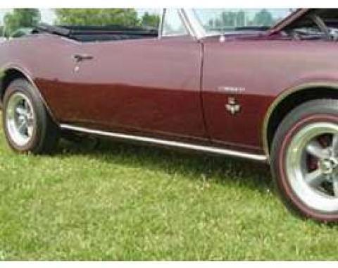Camaro Rocker Panel Molding, Show Correct, 1967-1969