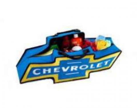 Canvas Bag, Chevrolet Bowtie, Blue With Yellow Border