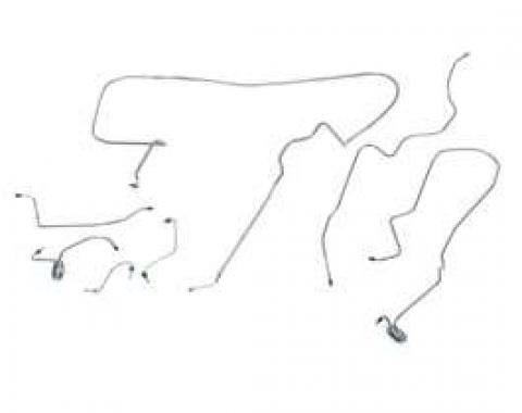 Camaro Brake Line Kit, Power Disc, Stainless Steel, 1980-1981