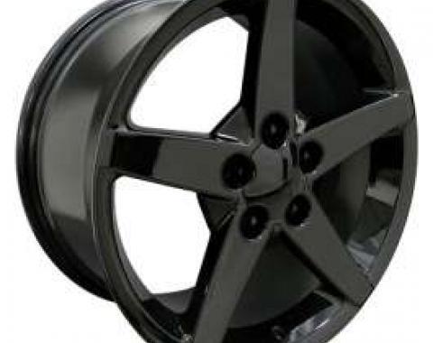 Camaro 18 X 9.5 C6 Style Reproduction Wheel, Black, 1993-2002