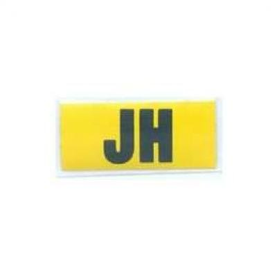 Camaro Valve Cover Decal, Code JH, 396/350hp, For Cars With4-Speed Manual Transmission, 1969