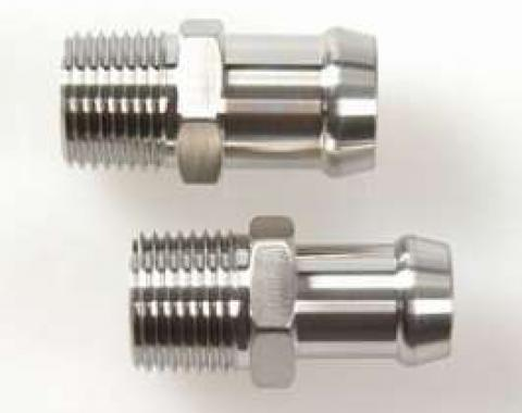 Camaro Heater Hose Fitting Set, Big Block, 1967-1974 & Small Block, Hex Head, Stainless Steel, 1967-1974