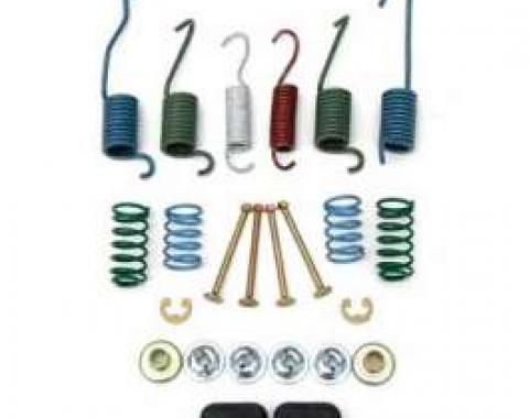 Camaro Drum Brake Shoe Mounting Hardware Kit, Front, 1967-1969