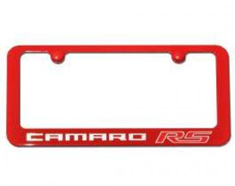 Camaro RS Painted, Victory Red,  Rear License Plate Frame