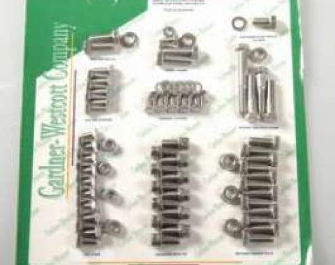 Camaro Engine Bolt Kit, Small Block, Stainless Steel, For Cars With Exhaust Headers, 1967-1969