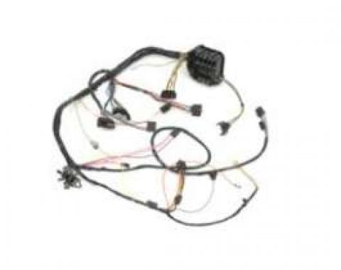 Camaro Under Dash Main Wiring Harness, For Cars With Manual Transmission Console Shift & Warning Lights, 1968