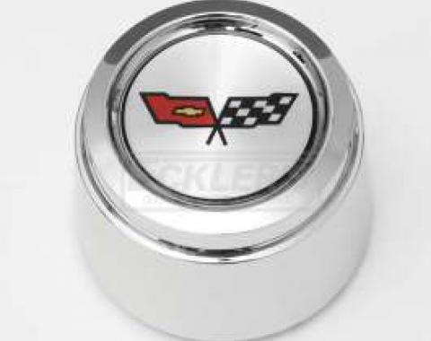 Camaro 1982 Corvette Style Chrome Center Cap For Corvette Style Aluminum Wheels