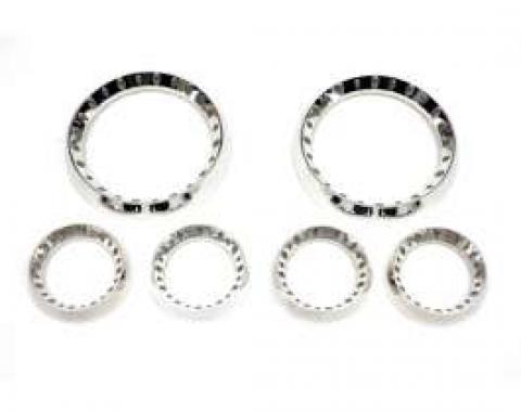 Camaro Billet Bezel Gauge Dash Pack With Holes,(2) 5 & (4)2-5/8