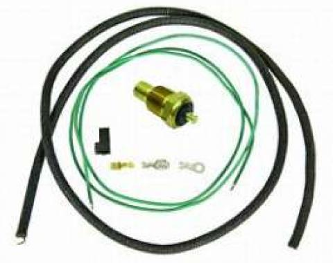 Camaro Coolant Temperature Sending Unit & Wiring Kit, For Cars With Gauges, 1967