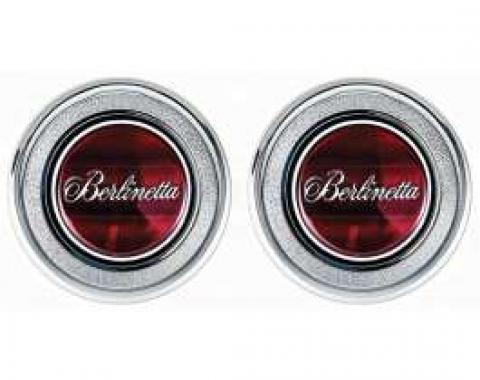 Camaro Interior Door Panel Emblems, Berlinetta, 1979-1981