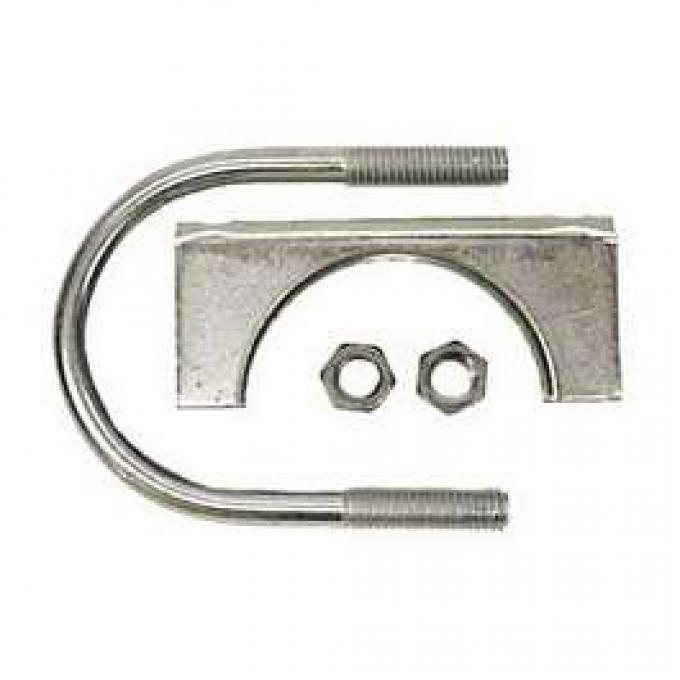 Camaro Exhaust Muffler Clamp, Stainless Steel, 2, 1967-2011