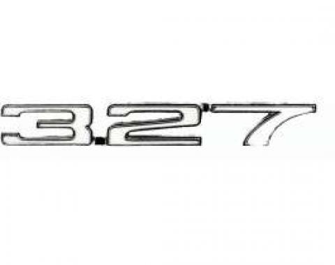 Camaro Fender Emblem, 327, Left, 1968