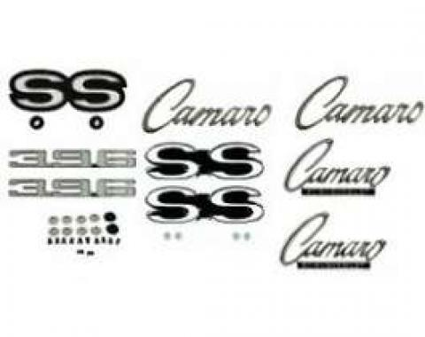 Camaro Emblem Kit, For Super Sport (SS) With 396ci,(Non-Rally Sport), 1968
